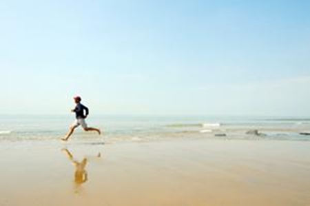 Corrida na areia