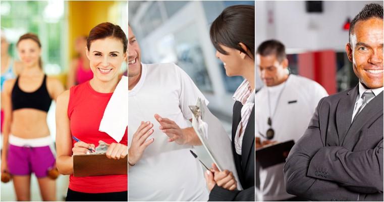 papel de cada funcionário na academia
