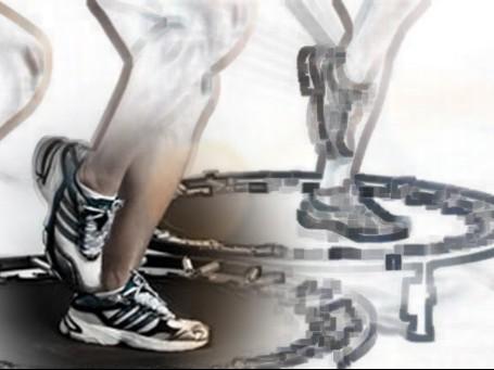 Por que sinto dor nos pés na aula de jump?