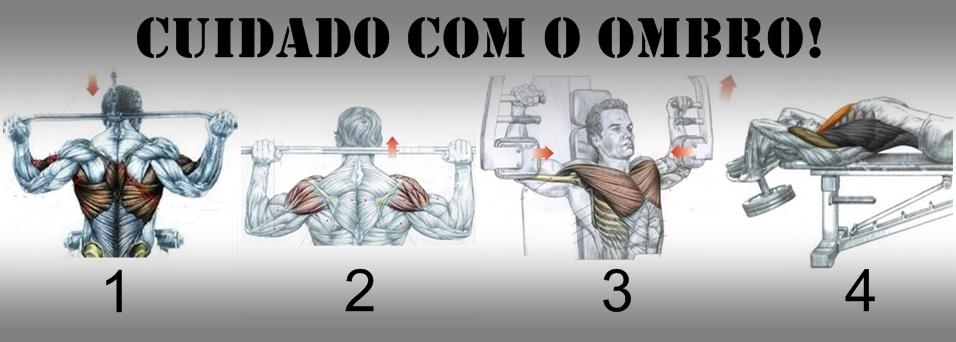 Exercícios de musculação que podem causar lesões no ombro