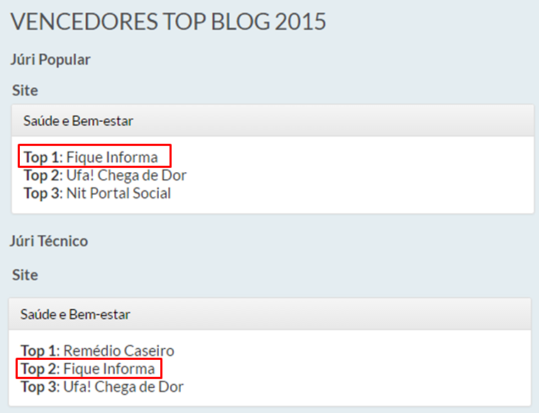 Top Blog 2015 resultado