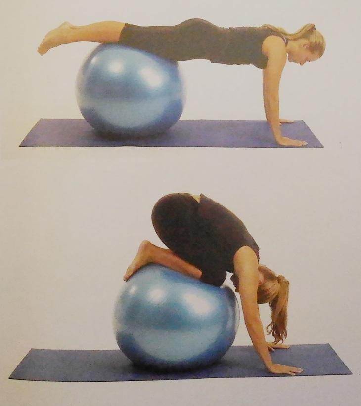 Exercícios desafiadores na bola 1