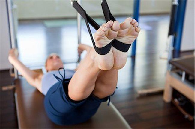 Posição dos pés no Pilates