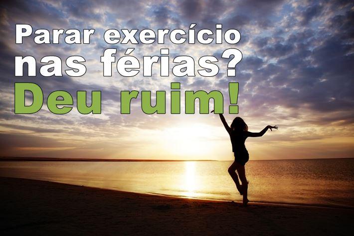 exercícios nas férias