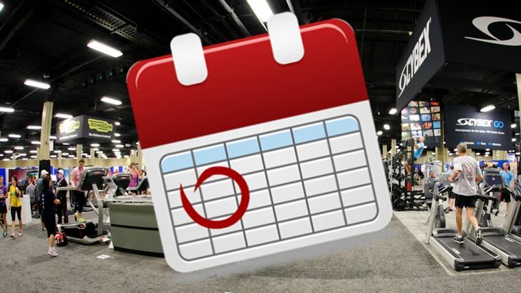 Calendário de Eventos e Cursos - Profissionais de Academia